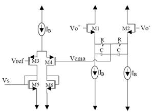 电阻分压 resistive-divider CMFB