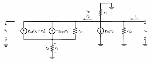 super-source-follower small-signal circuit 1