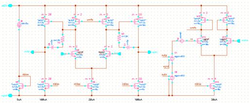 利用两个VCVS得到输出信号的共模