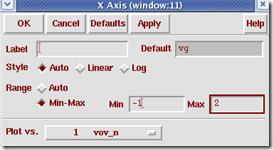 waveform窗口设置x轴变量