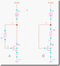 电阻方式二极管连接的MOSFET