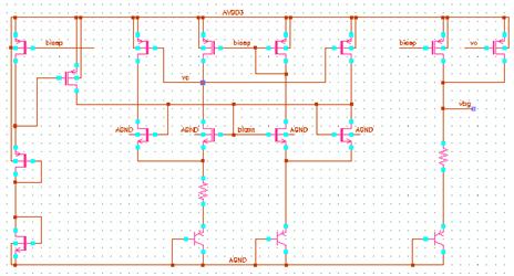 通过下面的 replica bias 方法使电路的电流相等,上面的 pmos 的 vgs