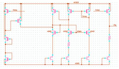 钳制Vds电压的电流镜结构的bandgap