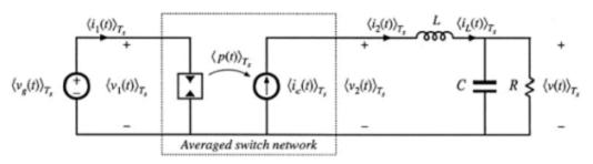 电流模式下的平均模型的等效电路