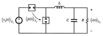 电流控制模式的buck变换器在非连续导通工作时的等效电路