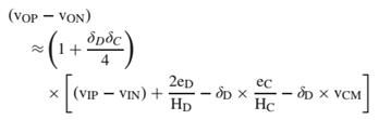 改进结构 Class-D 放大器输出表达式